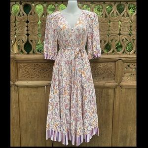 BNWT DREAMCATCHER Floral Boho Prairie Maxi Dress